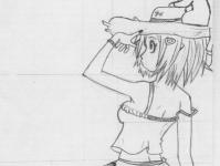 Дама в странной шляпке