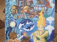 Подводное царство морской нимфы или подводный город будущего