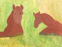 Красные лошади