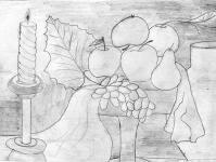 Композиція з яблуками