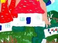 Разноцветный дом цветов