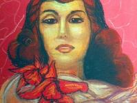 Портрет с орхидеей