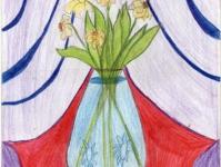 Букет у кришталевій вазі