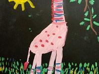 Розовая жирафа