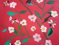 Пчёлы на цветущем дереве