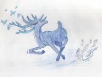 Танцующий синий олень